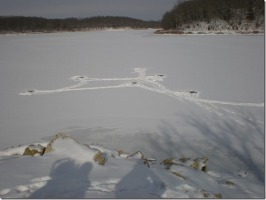 Leavenworth State Lake Ice Conditions